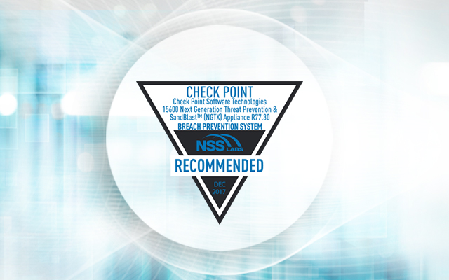 When It Comes to Prevention: Think Check Point
